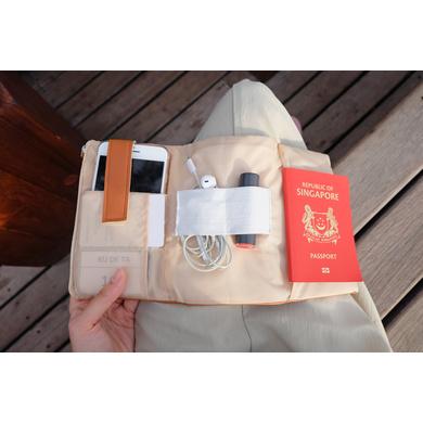 Camel Leather Gadget Pouch-2