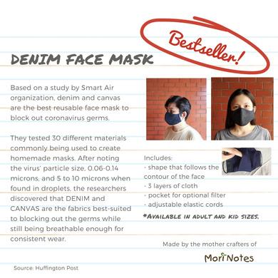 Denim Face Mask-Large-4