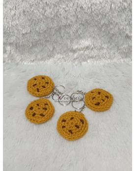 Crochet Cookie Keychain