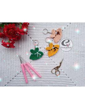 Crochet MIni Dress Keychain