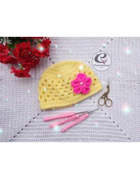 Baby Girl Crochet Bonnet