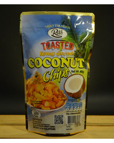 Toasted Coconut chips Honey Glazed-TCH60G