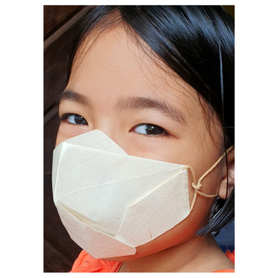 (Small - 3 Pcs.) 100% Biodegradable Abaca Origami Face Mask-2