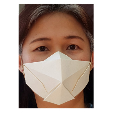 (Medium - 3 Pcs.) 100% Biodegradable Abaca Origami Face Mask-3
