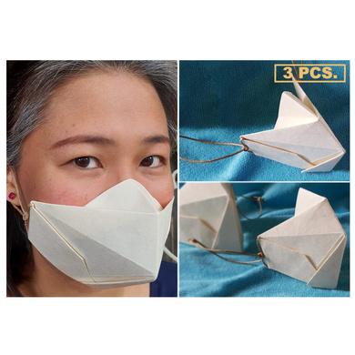 (Medium - 3 Pcs.) 100% Biodegradable Abaca Origami Face Mask-OAFM-003