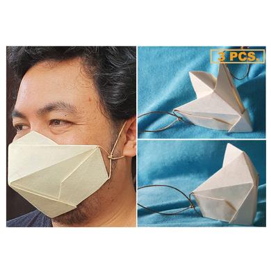 (Large - 3 Pcs.) 100% Biodegradable Abaca Origami Face Mask-OAFM-005