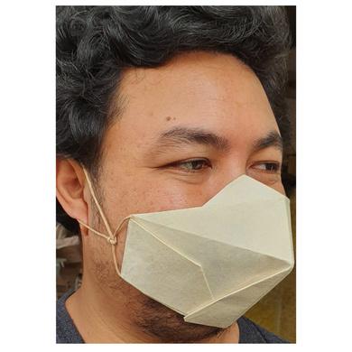 (Large - 3 Pcs.) 100% Biodegradable Abaca Origami Face Mask-5