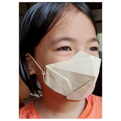 (Small - 3 Pcs.) 100% Biodegradable Abaca Origami Face Mask-3