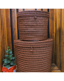 Round Laundry Basket with Cover