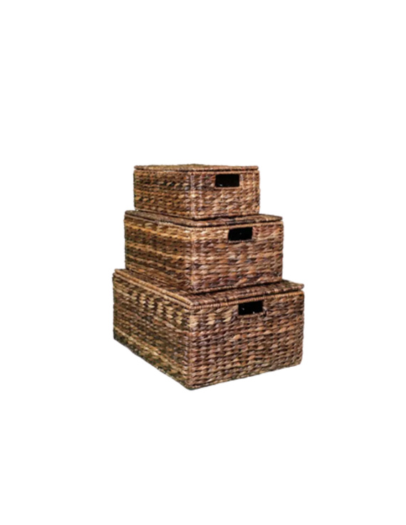 Abaca Multipurpose Stackable Boxes (Set: small, medium & large)-AMSB1S