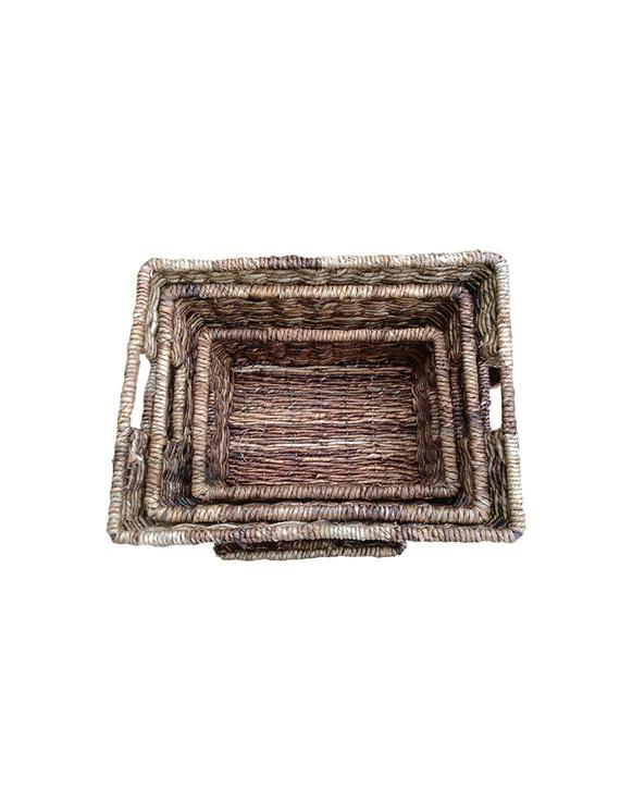 Abaca Storage Basket Set (small, medium and large)-ASBS1S1600