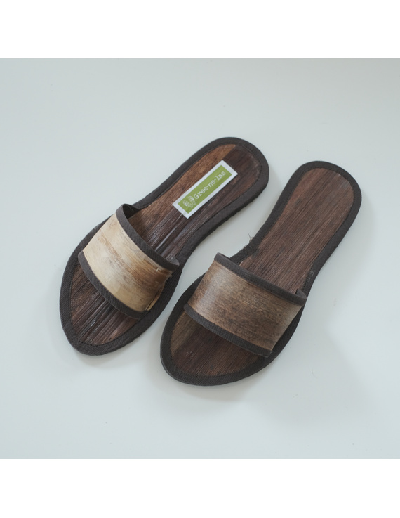 *SALE - Buy 1 Take 1* Gree-ne-las Basic Slides with leather piping (without rubber sole), ladies' cut-BSL2-1