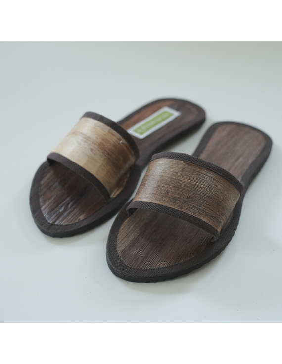 *SALE - Buy 1 Take 1* Gree-ne-las Basic Slides with leather piping (without rubber sole), unisex-BSU2-1