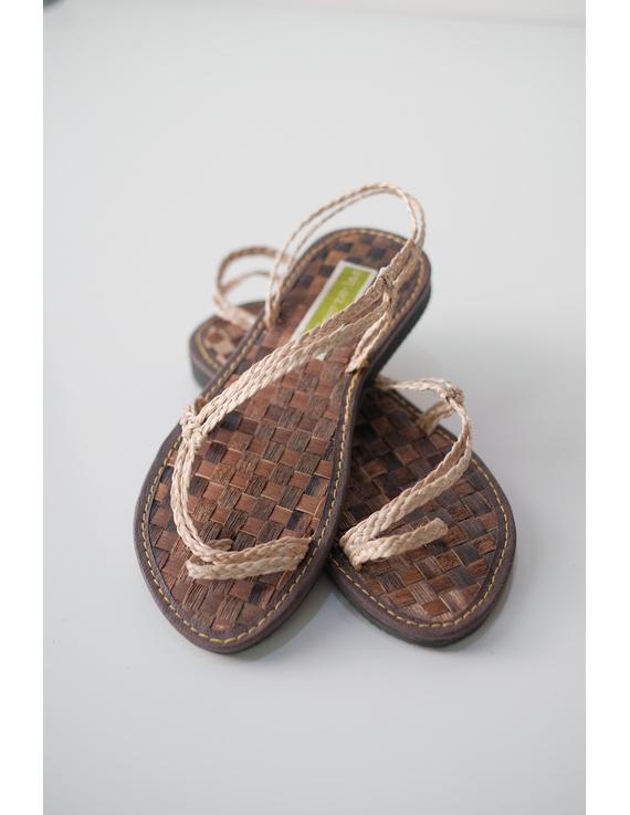 *SALE* Abaca Banig Sandals, natural salapid strap-ABN-1