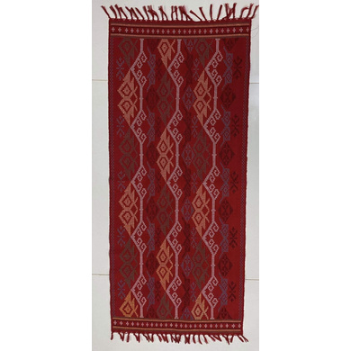 Yakan Cloth Table Runner (red)-TR006