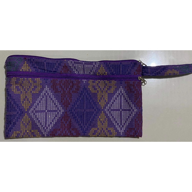 Yakan Bunga Pouch (Violet)-PCH006