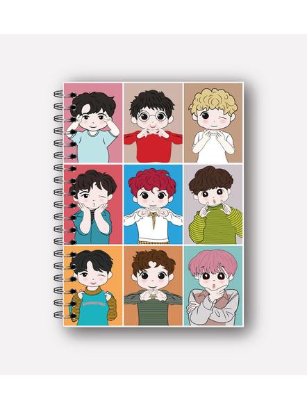 EXO'L Forever Notebook & EXO Chibi Badge-NBA5PBGLBL122000003