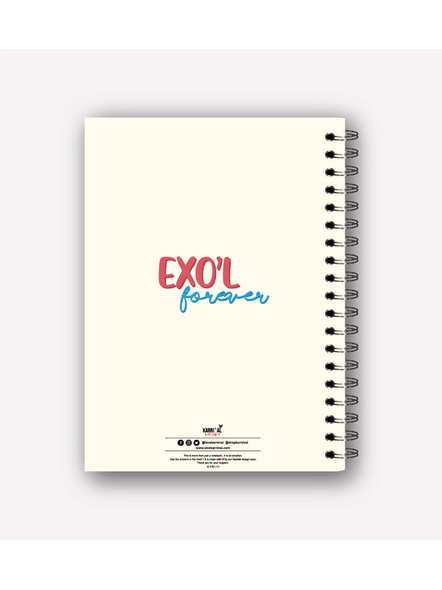 EXO'L Forever Notebook & EXO Chibi Badge-2