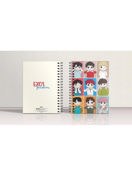 EXO'L Forever Notebook & EXO Chibi Badge-3