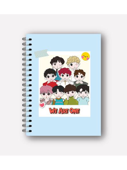 We Are One Notebook & EXO Chibi Badge-NBA5PBGLBL122000004