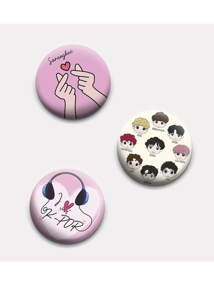 Sarang EXO Badges- Set of 3-BS3L12200003