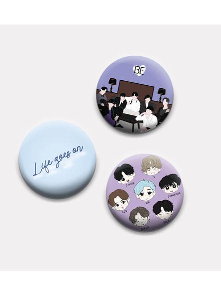 BTS BE Badges- Set of 3-BS3L12200001