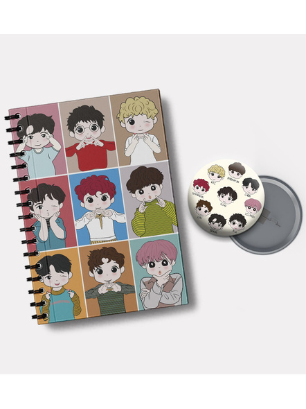 EXO'L Forever Notebook & EXO Chibi Badge-1