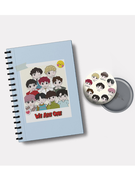 We Are One Notebook & EXO Chibi Badge-1