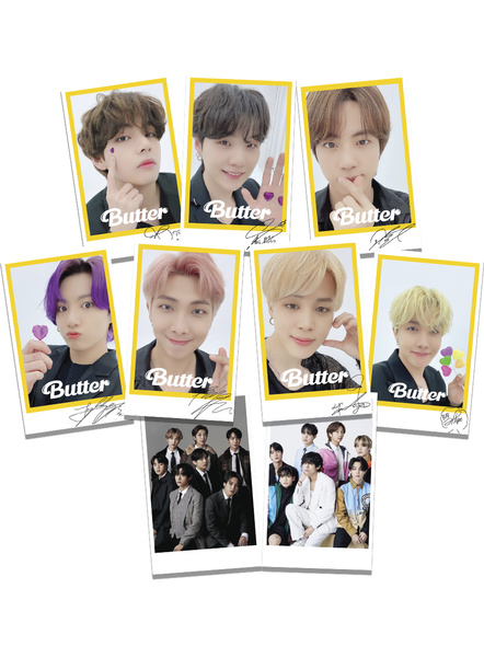 BTS Signed Polaroids Set of 9 - Butter Collection-78