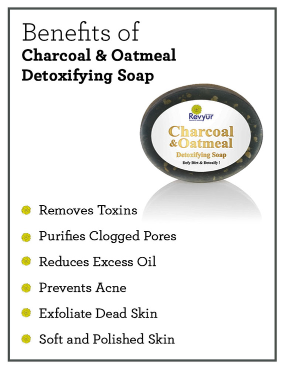Revyur Charcoal & Oatmeal Detoxifying Soap-1