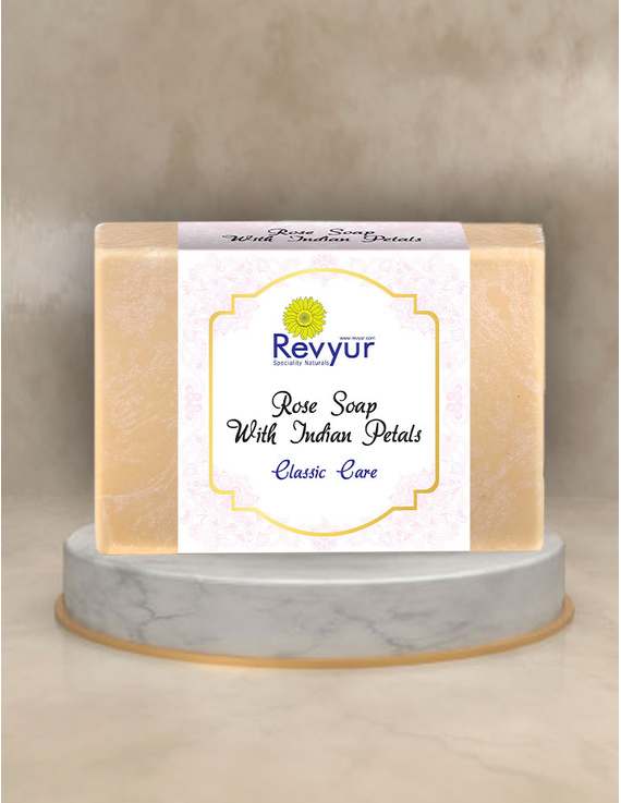 Revyur Rose Soap With Indian Petals Classic Care-Revyur-94