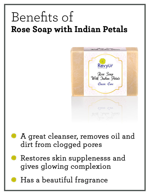 Revyur Rose Soap With Indian Petals Classic Care-1