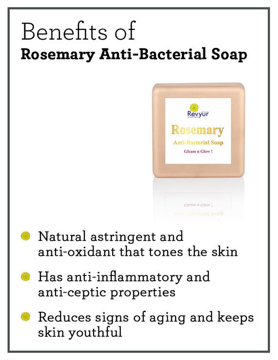 Revyur Rosemary Anti-Bacterial Soap-150 gm-1