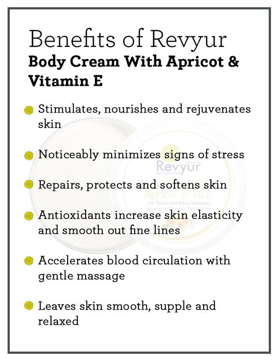 Revyur Body Cream With Apricot & Vitamin E-200 gm-1