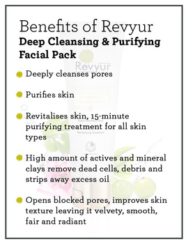 Revyur Deep Cleansing & Purifying Facial Pack-1-sm