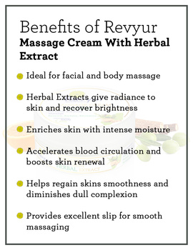 Revyur Massage Cream With Herbal Extract-500 gm-1-sm