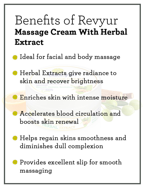 Revyur Massage Cream With Herbal Extract-500 gm-1