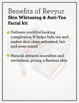 Revyur Skin Whitening & Anti-Tan Facial kit-1-sm