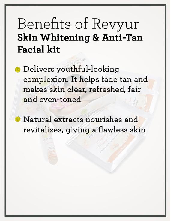 Revyur Skin Whitening & Anti-Tan Facial kit-1