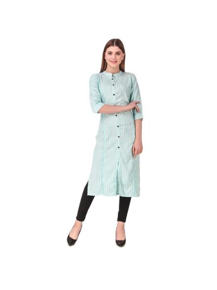 Straight Cut Long Cotton Kurti-6909096