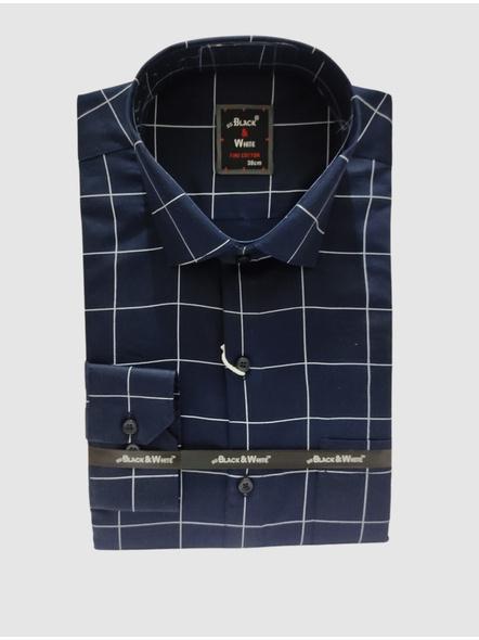 Black & White Men Slim Fit, Formal Shirt-6909186