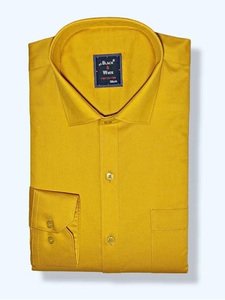 Black & White Men Orange Colour Slim Fit Solid Formal Shirt-FSPG-1