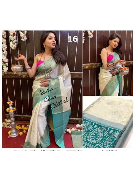 Banarasi Silk Woven Saree With Blouse Piece-10514960
