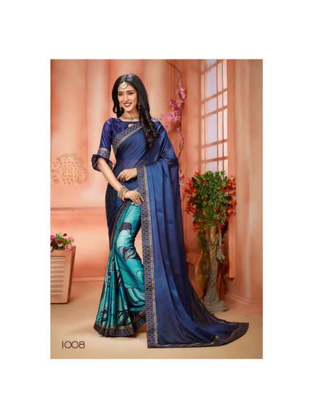 Printed Blue Colour Saree-10711196