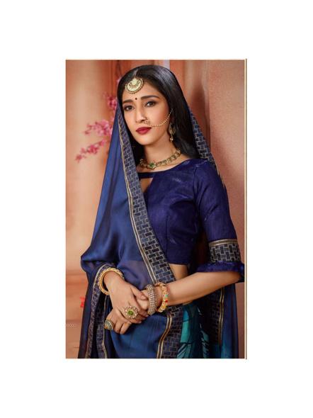 Printed Blue Colour Saree-1