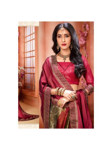Printed Red Colour Saree-1