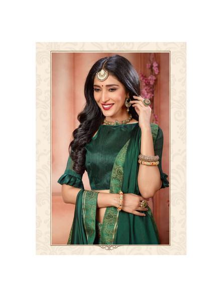 Printed Green Colour Saree-1