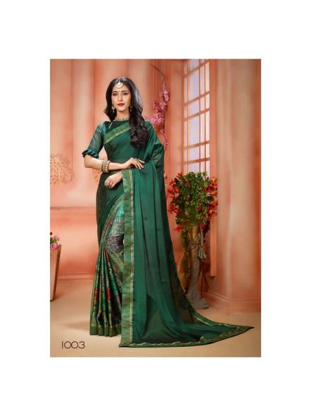 Printed Green Colour Saree-10711200