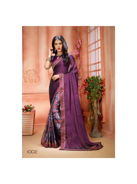 Printed Purple Colour Saree-10711204