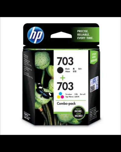 HP 703 2-pack Black/Tri-color Original Ink Advantage Cartridges-SHRO502